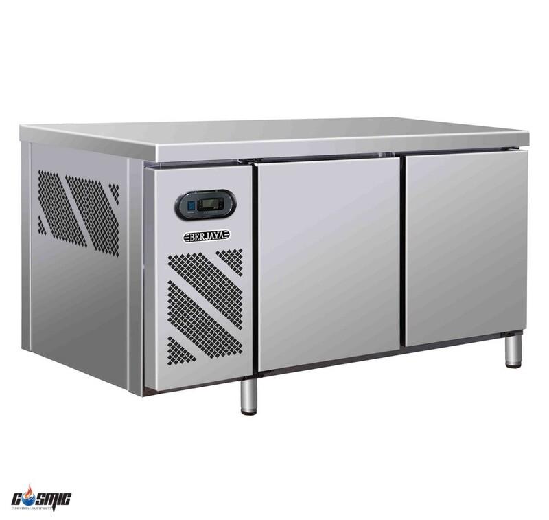 Bàn đông mát 2 cửa Berjaya 1200mm BS 2DCF4/Z đa năng - vừa có tủ mát, tủ đông, vừa là bàn sơ chế cực kỳ tiết kiệm!
