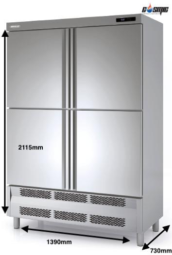 Kích thước chi tiết của tủ đông 4 cánh Docriluc ACS-140-4