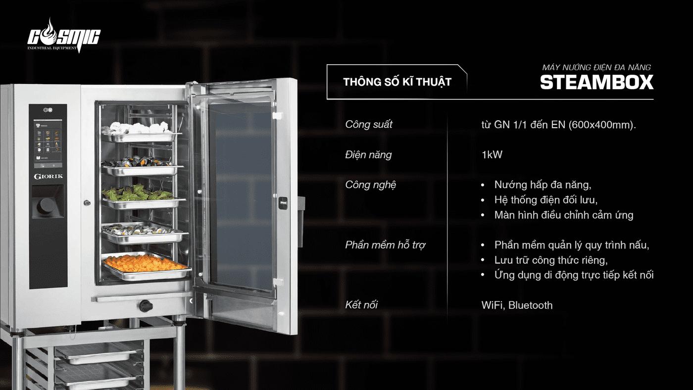 máy nướng điện đa năng STEAMBOX