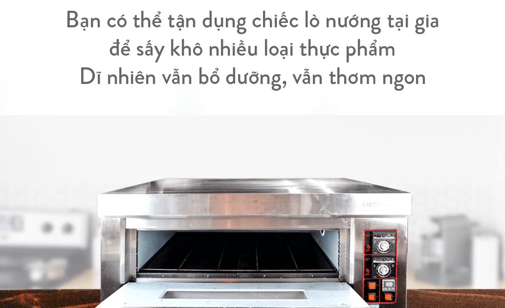 Sấy thực phẩm bằng lò nướng