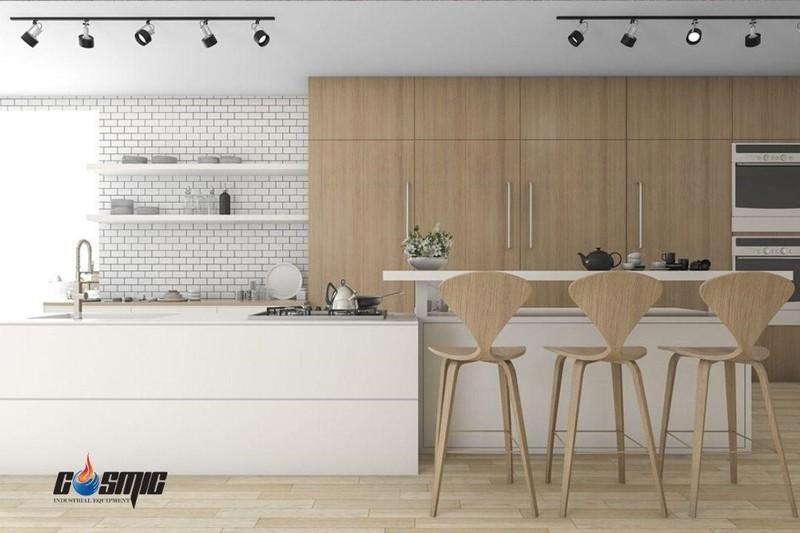 Thiết kế nhỏ gọn của tủ tương thích với không gian của nhiều gian bếp công nghiệp