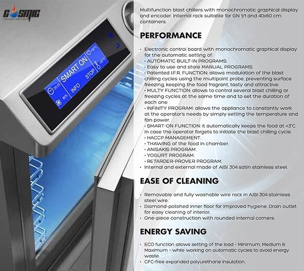 Tủ cấp đông nhanh Angelo Po XS51M sở hữu đa dạng tính năng vận hành hiệu quả