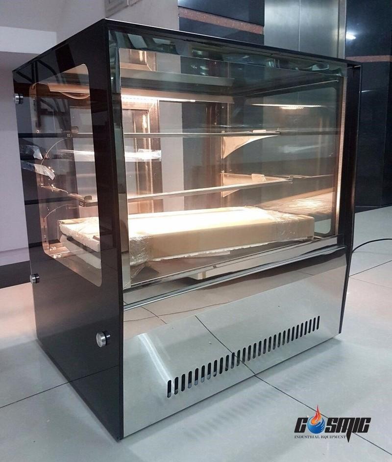 Tủ trưng bày bánh lạnh để bàn, kính vuông WS-102RT